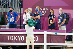 Kiss and Cry, Team Great Britain<br /> Olympic Games Tokyo 2021<br /> © Hippo Foto - Dirk Caremans<br /> 24/07/2021