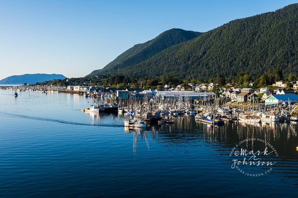 The cute seaside town of Sitka, Alaska, USA