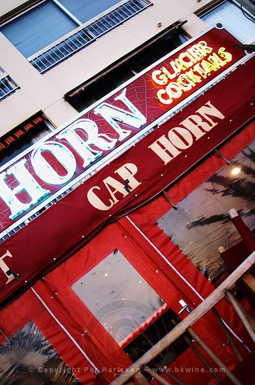 The restaurant cafe in the harbour called Cap Horn Le Brusc Six Fours Var Cote d'Azur France
