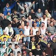 Ankaragucu's supporters during their Turkish superleague soccer match Kasimpasa between Ankaragucu at the Recep Tayyip Erdogan stadium in Istanbul Turkey on Saturday 19 February 2011. Photo by TURKPIX