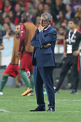 October 10, 2017 - Lisbon, Portugal - Portugal's head coach Fernando Santos during the 2018 FIFA World Cup qualifying football match between Portugal and Switzerland at the Luz stadium in Lisbon, Portugal on October 10, 2017. Photo: Pedro Fiuza  (Credit Image: © Pedro Fiuza/NurPhoto via ZUMA Press)