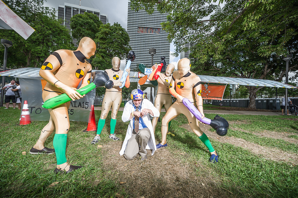 University of Miami ASME poses for a portrait at the Red Bull Flugtag in Miami, FL, USA, on 21 September 2013.