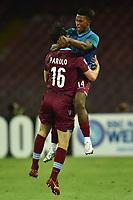 Esultanza Marco Parolo Lazio dopo il gol con Keita Balde Goal celebration <br /> Napoli 31-05-2015 Stadio San Paolo Football Calcio Serie A 2014/2015 Napoli - Lazio. Foto Andrea Staccioli / Insidefoto
