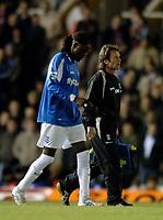 Photo: Glyn Thomas.<br />Birmingham City v West Ham United. The Barclays Premiership. 05/12/2005.<br /> Birmingham's Mario Melchiot (L) limps off after just a few minutes.