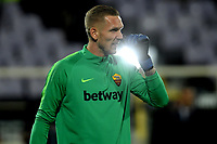 Patrick Robin Olsen of AS Roma gestures during the warm up of the Serie A 2018/2019 football match between ACF Fiorentina and AS Roma at stadio Artemio Franchi, Firenze, November 03, 2018 <br />  Foto Andrea Staccioli / Insidefoto