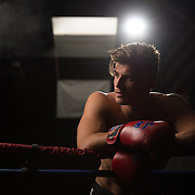 Boxing Life: Matyas Nagy.  Lifestyle photoshoot with Matyas Nagy at Grampa's Boxing Gym in Westminster, California on April 1, 2017.  ©Michael Der, All Rights Reserved.  Please contact Michael Der for all licensing requests.