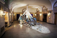 photograph ©2014 tom wagner<br /> sitelab at Morton. julie schenkleberg, artist, artprize 2014. morton hotel. grand rapids, Mi