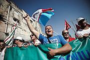 Operai manifestano contro la chiusura dell'ilva. Christian Mantuano/OneShot