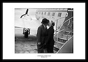 A farewell kiss at Dublin Airport<br /> 29th May 1952