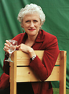 American crime writer Sara Paretsky at the Edinburgh International Book Festival which opened on the 12th August. Ms Paretsky is one of a number of high-profile celebrities who are attending this annual event......