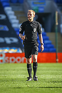 Today's referee Gavin Ward during the EFL Sky Bet Championship match between Cardiff City and Nottingham Forest at the Cardiff City Stadium, Cardiff, Wales on 2 April 2021.