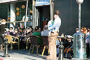 Israel, Tel Aviv, outdoor cafe