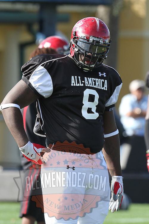 Anthony Johnson during the practice session at the Walt Disney Wide World of Sports Complex in preparation for the Under Armour All-America high school football game on December 3, 2011 in Lake Buena Vista, Florida. (AP Photo/Alex Menendez)