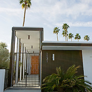 Palm Springs, CA is known for its mid-century modern architecture and examples of it are found throughout the city's neighborhoods. This private residence is located in Canyon Estates.