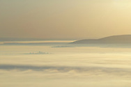 Gardiner, New York - The Wallkill Valley is covered in morning fog as seen from the Shawangunk Ridge.