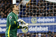 Hull City Goalkeeper Eldin Jakupovic looks on. Premier league match, Everton v Hull city at Goodison Park in Liverpool, Merseyside on Saturday 18th March 2017.<br /> pic by Chris Stading, Andrew Orchard sports photography.