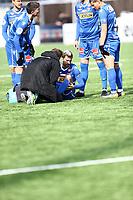 Fotball ,  OBOS-Ligaen<br /> 07.04.19<br /> Nammo Stadion<br /> Raufoss v Sandefjord  0-2<br /> Foto :  Dagfinn Limoseth , Digitalsport<br /> Ruben Herraiz Alcaraz , Sandefjord måtte ut med skade.
