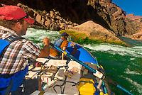 Whitewater rafting, Tuna Creek Rapid on the Colorado River in Grand Canyon, Grand Canyon National Park, Arizona USA