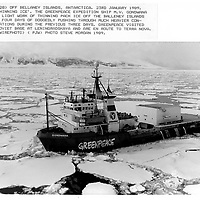 Wire photo prints transmitted to AP , Reuters and AFP during the Greenpeace 88-89 Antarctic Expedition