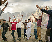 Young Wakhis dance after celebrating Imamat Day, which marks the anniversary of the day their present (or Hazar) imam succeeded his predecessor. These young men study in big cities away from the mountains, and for them, this celebration is a time to reconnect with their homeland.