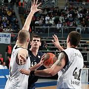 Anadolu Efes's Stanko BARAC (C) during their Turkish Airlines Euroleague Basketball Group C Game 6 match Anadolu Efes between Partizan at Sinan Erdem Arena in Istanbul, Turkey, Wednesday, November 23, 2011. Photo by TURKPIX