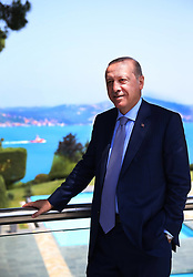 Turkish President Recep Tayyip Erdogan shares these pictures from his official Instagram and Facebook social media account today. Turkey, on July 04, 2017. in this picture: President Erdogan poses at Tarabya's Huber Presidential Villa from the Bosphorus in Istanbul. Handout Photo by Presidential press office/Depo Photos/ABACAPRESS.COM