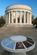 President Warren G. Harding Memorial. Marion, Ohio.  Built of White Georgian Marble in 1927.