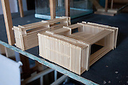 Architect's model of house. Pick Up Sticks Enterprises, Studio & Workshop of Architect & Artist Christopher Dukes, Kingsford, Sydney, New South Wales, Australia.
