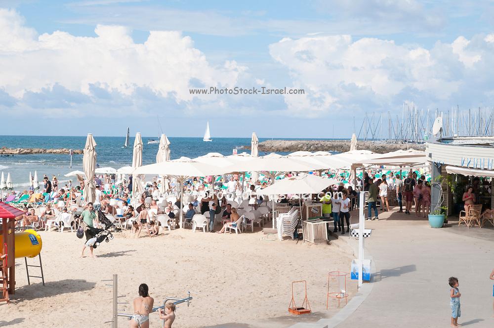 Beachfront restaurant on Gordon Beach, Tel Aviv, Israel
