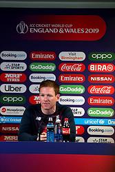 England cricket captain Eoin Morgan during the press conference at Edgbaston, Birmingham.