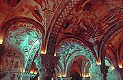 SPAIN, MEDIEVAL ART, LEON murals in Pantheon de Los Reyes