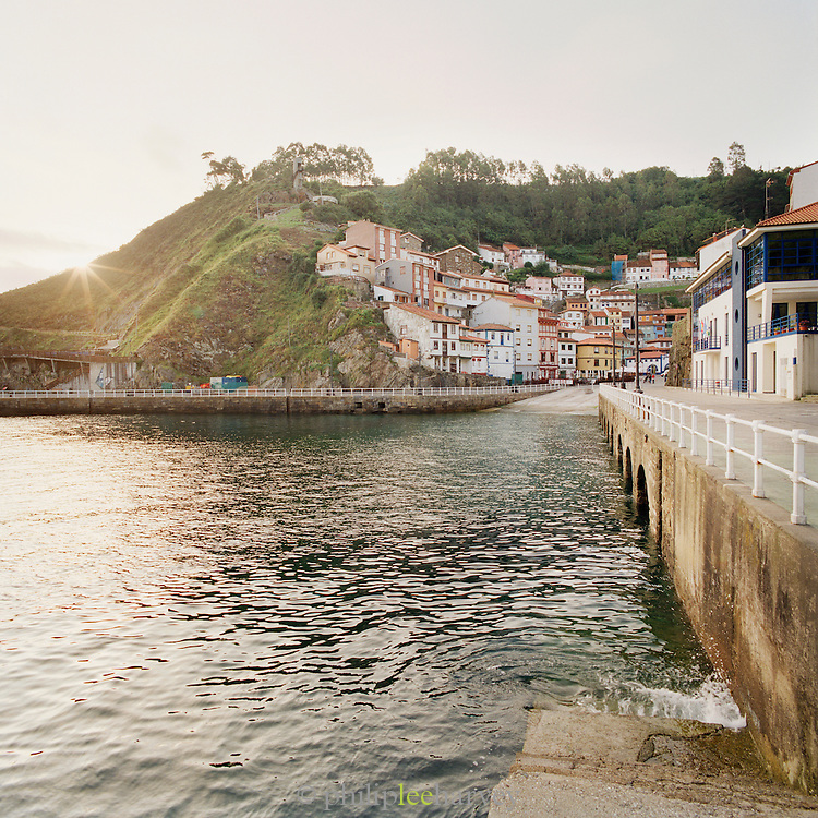 The village of Cudillero sits in a cove in the Asturais, Spain