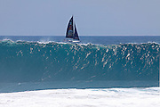 Sailboat Outside The Wedge Newport Beach