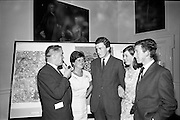"28/06/1967<br /> 06/28/1967<br /> 28 June 1967<br /> Presentation of prizes at Navan Carpets ""Young Designer of the Year"" reception in the Royal Hibernian Hotel, Dublin. Image shows (l-r): Mr. Allan Mallinson, managing Director, Navan Carpets Ltd.; Miss E. Burke, Navan Carpets Ltd.; Mr. L.J. Tully; Miss H. Conaty, Navan Carpets Ltd. and Mr. James McPartlin, (prize-winner), Dublin."