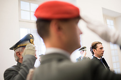 26.10.2017, Heldenplatz, Wien, AUT, Nationalfeiertag und Angelobung neuer Rekruten. im Bild Außenminister Sebastian Kurz (ÖVP) bei der Kranzniederlegung // Austrian Foreign Minister Sebastian Kurz during Austrian National Day at Heldenplatz in Vienna, Austria on 2017/10/26. EXPA Pictures © 2017, PhotoCredit: EXPA/ Michael Gruber
