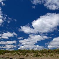 North America, Canadam Nova Scotia, Martinique Beach. Dune and Sky at Martinique Beach.