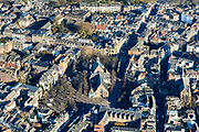 Nederland, Utrecht, Utrecht, 07-02-2018; Binnenstad Utrecht, Janskerkhof, Janskerk.<br /> City centre Utrecht.<br /> <br /> luchtfoto (toeslag op standard tarieven);<br /> aerial photo (additional fee required);<br /> copyright foto/photo Siebe Swart