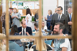© Licensed to London News Pictures . 14/09/2017 . Liverpool , UK . The Duke of Cambridge , Prince William , meets service users during a visit to Life Rooms in Walton . Life Rooms provides community support to help people recover from mental health issues . Photo credit : Joel Goodman/LNP
