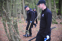 © Licensed to London News Pictures 24/10/2018<br /> HARTLEY,UK.<br /> Kent police have extended the area they are searching in woodland near Hartley village for missing mother Sarah Wellgreen. Sarah has been missing for over two weeks and was last seen on the evening of October 9th.<br /> Photo credit: Grant Falvey/LNP