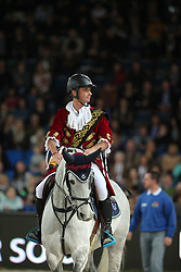 Lynch Denis, (IRL), Blue Silver<br /> Speed and handiness competition with costumes<br /> Stuttgart - German Masters 2015<br /> © Hippo Foto - Stefan Lafrentz