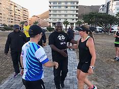 Cyril Ramaphosa out on the Promenade - 15 Feb 2018