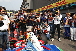 August 27, 2017 - Spa-Francorchamps, Belgium - Motorsports: FIA Formula One World Championship 2017, Grand Prix of Belgium, ..Mick Schumacher (GER) drives the old F1 car of his father Michael Schumacher  (Credit Image: © Hoch Zwei via ZUMA Wire)