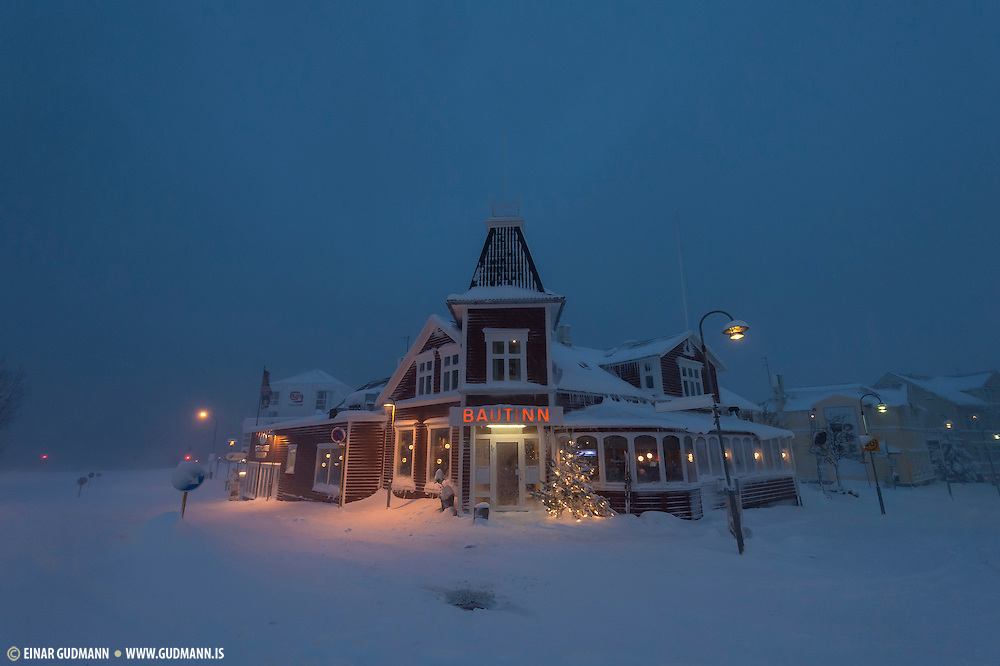 Akureyri, winter time.