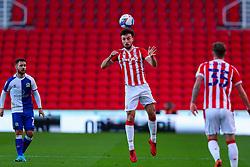 Morgan Fox of Stoke City heads the ball forward - Mandatory by-line: Nick Browning/JMP - 19/12/2020 - FOOTBALL - Bet365 Stadium - Stoke-on-Trent, England - Stoke City v Blackburn Rovers - Sky Bet Championship