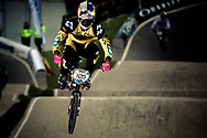 #105 (NHLAPO Sifiso) RSA at the UCI BMX Supercross World Cup in Manchester, UK