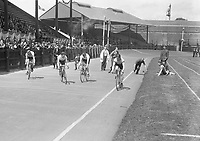 H2607<br /> Aonach Tailteann Athletics. Competitor in a cycling event.<br /> 1932 (Part of the Independent Newspapers Ireland/NLI Collection)