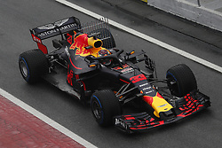 March 1, 2018 - Barcelona, Catalonia, Spain - 1st March 2018, Circuit de Catalunya, Barcelona, Spain; Formula One Grand Prix Testing; Max Verstappen of RedBull Racing, Red Bull RB14 in to the pit lane (Credit Image: © Eric Alonso via ZUMA Wire)