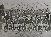 All Ireland Senior Hurling Championship Final, Croke Park, .Cork v Galway,.Back Row: A Scannell (Chairman), J Barrett ( Selector), D Hayes, J Twomey, D Creedon, L Dowling, G Murphy, J Lyons, G O'Riordan, P Collins (Selector), J Barry (Trainer). Front Row: P Barry, A O'Shaughnessy, W J Daly, J Hartnett, C Ring (capt), T O'Sullivan, V Twomey, M Fuohy.