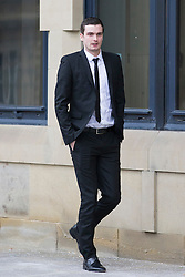 © Licensed to London News Pictures. 29/02/2016. Bradford UK. Adam Johnson leaves Bradford Crown Court today on the 12th day of his trial. The former Sunderland player is accused of two counts of sexual activity with a 15 year old girl. Photo credit: Andrew McCaren/LNP
