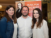 Denise Howard GoBus, Dean Austin and Breeze Lynch GoBus  in Hotel Meyrick for the launch of Music for Galway's new International Concert Season 'Aimez-vous Brahms?' opening on September 28th and running until May 18th including main concert series, Lunchtime series and Midwinter Festival.  . Photo: xposure.